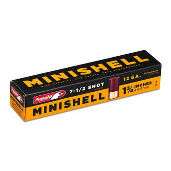 Aguila Minishell Shot Shotshell Ammo - 12 Gauge - 7.5 - 20 Rounds