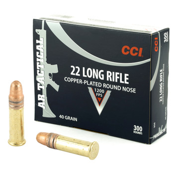 CCI AR Tactical, .22LR, Copper Plated LRN, 40 Grain, 300 Rounds