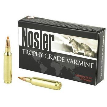 Nosler Trophy Grade Varmint 22Nos 55gr. BT 20RD