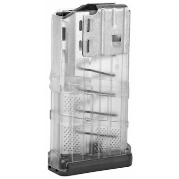 Lancer L7 Advanced Warfighter Magazine 308Win 20Rd Fits AR10 -Translucent Clear Finish