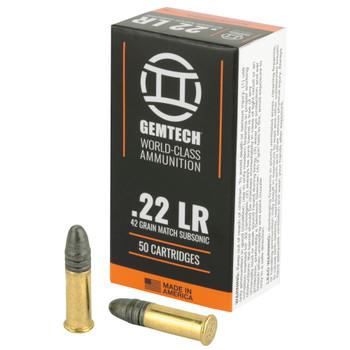 Gemtech 22LR Subsonic 42gr Round Nose 50rd