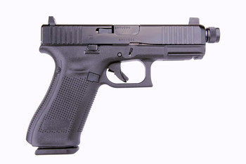 Glock 19 Gen 5 9mm Threaded Barrel, Suppressor Height Sights, Front Serrations