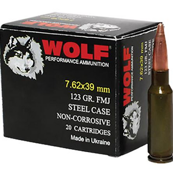 Wolf PolyFormance 7.62x39 123gr HP 1000rd Case