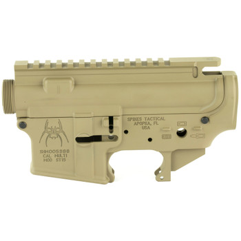 Spikes Tactical Upper/lower Receiver Set - FDE