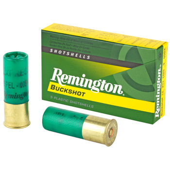 "Remington, Express, 12 Gauge, 2.75"", 00 Buck, 4 Dram, Buckshot, 9 Pellets, 5 Round Box"