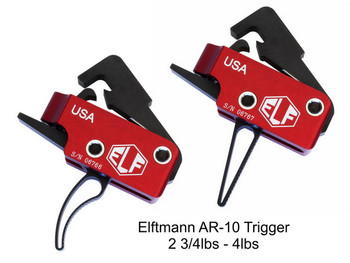 ELF AR-10/308 Trigger AR15 2.75-4lbs Straight Bow