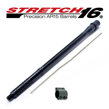 "Stretch 16 Phantom (Melonite) 16"" Precision AR15 Barrel Assemply .223 Wylde, 1/8 Twist, Intermediate Length Gas System"