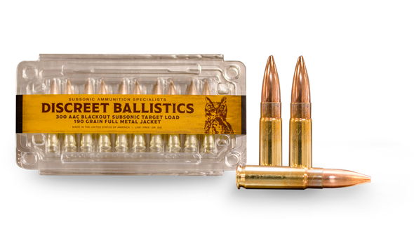 """Discreet Ballistics 300 AAC Blackout 190gr Subsonic Load Target 20rd 7-11"""" Barrel"""