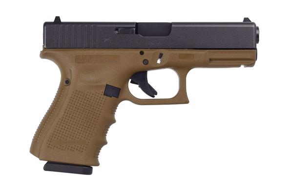 Glock 19 Gen4 9mm Flat Dark Earth Frame 15+1rds