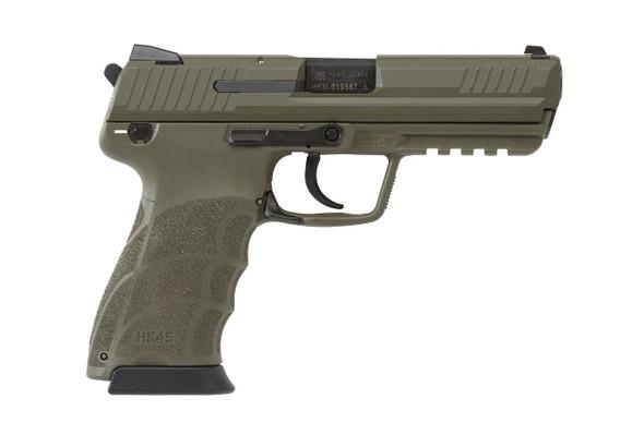 """HK 45 45ACP 4.46"""" Green V1 DA/SA 10RD"""