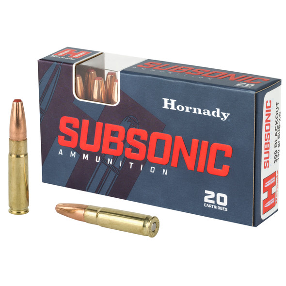 Hornady Subsonic .300 Blackout Sub-X 190 Grain 20 Rounds