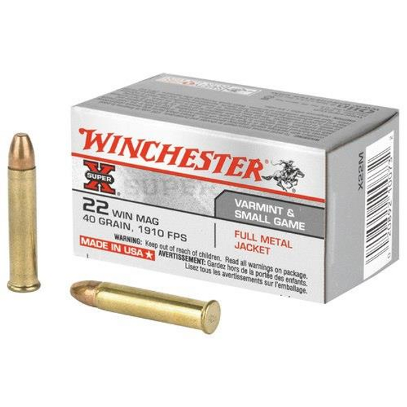 Winchester Super-X .22 Mag FMJ 40 Gr 50 Rounds