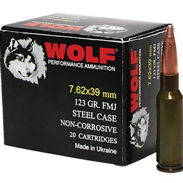 Wolf PolyFormance 7.62x39 123gr HP 1000rd Case
