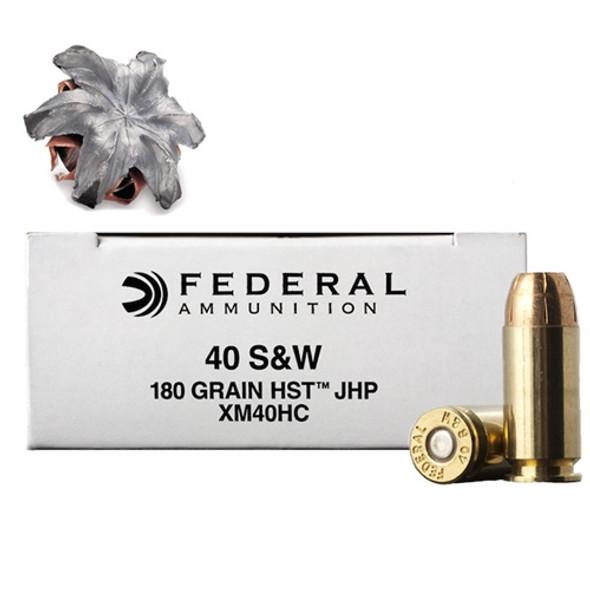 Federal HST .40S&W JHP 180gr XM40HC - 50 Rds.
