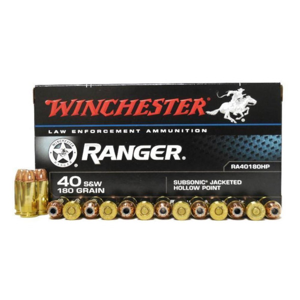 Winchester Ranger 40 S&W 180gr Subsonic JHP