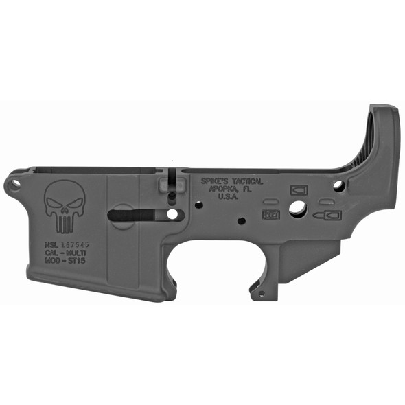 Spikes Tactical AR15 Stripped Lower - Punisher