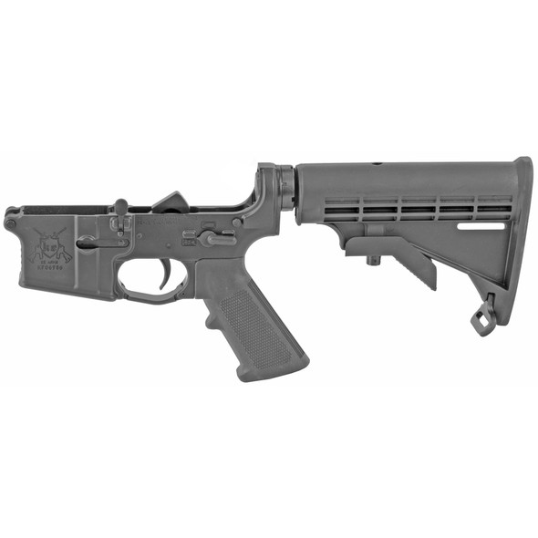 KE Arms KE-15 Complete Lower Receiver - A2 grip - Stock - Black