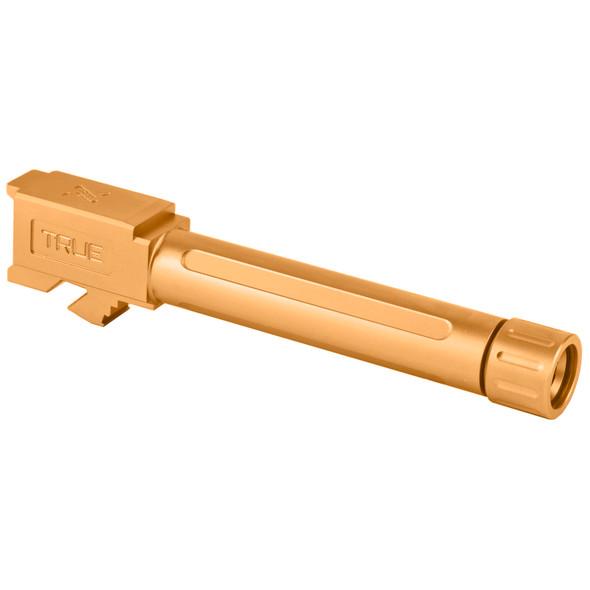 True Precision Threaded Barrel For Glock 19 - Titanium Nitride
