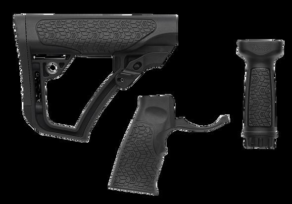 Daniel Defense Stock/Grip/Vertical Grip Combo - Black