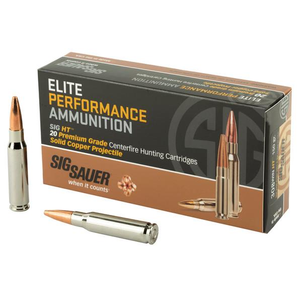 Sig Sauer, Elite Performance, Hunting, 308 Win, 150 Grain Copper HT, 20 Round Box