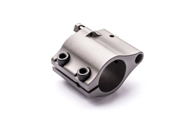 """Superlative Arms .625"""" Adjustable Gas Block, Bleed Off - Clamp On, Stainless Steel, Matte Finish"""