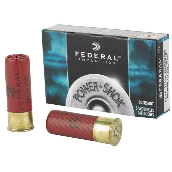 "Federal PowerShok - 12 Ga 2.75"" 00 Buck - 5 Round Box pic 1"