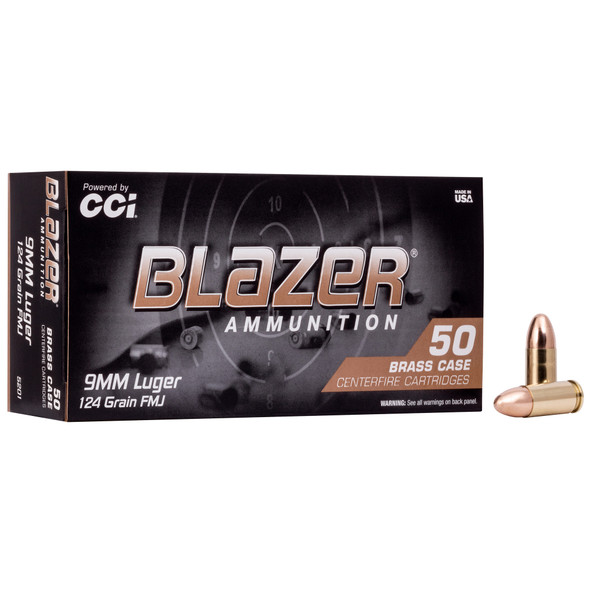 Blazer Brass - 9MM 124 Grain FMJ - 50 Rds