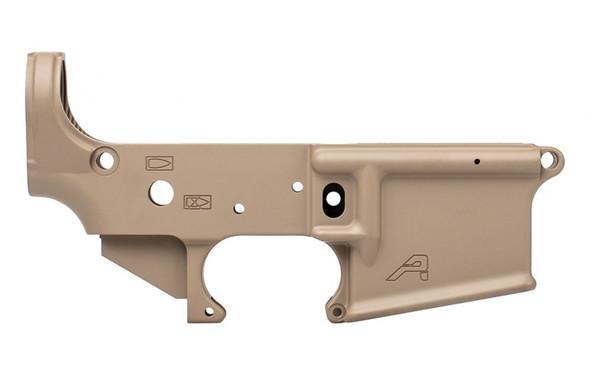 Aero Precision AR15 Stripped Lower Receiver, Gen 2: Pistol Marked - FDE Cerakote