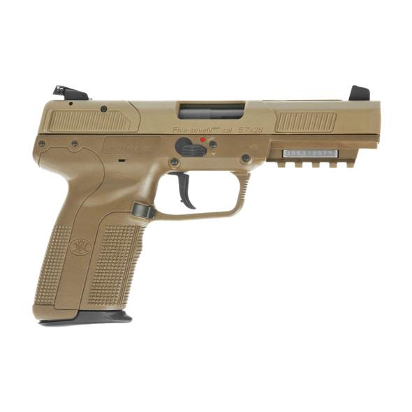 """FN America Five seveN 5.7X28MM 4.8"""" Barrel FDE 10Rd 2 Mags"""