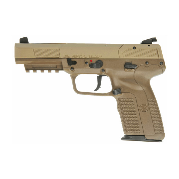 """FN America Five seveN 5.7X28MM 4.8"""" Barrel FDE 10Rd 2 Mags, left"""