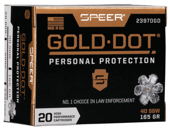 Gold Dot 40 S&W 165 gr Hollow Point - 20 Rds