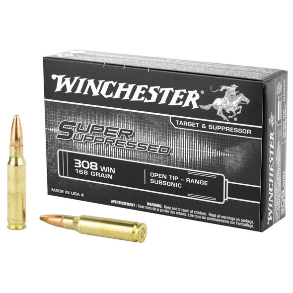 Winchester 308 Win Super Suppressed 168gr - 20rd Box