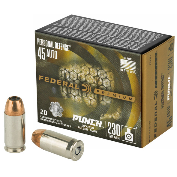 Federal - Punch 45 ACP 230Gr JHP - 20 Rds
