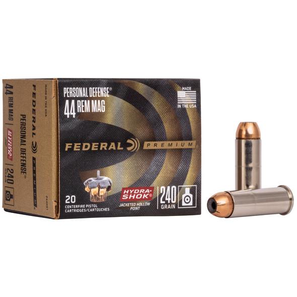 Federal Hydra-Shok - 44MAG 240 Gr Hollow Point - 20 Rds