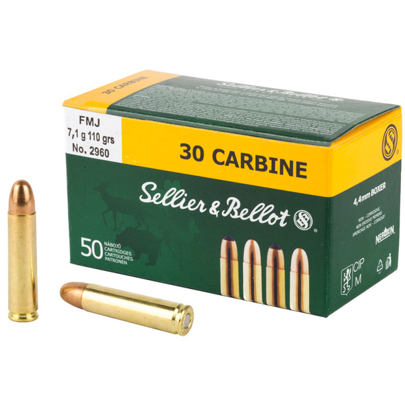 Sellier & Bellot - 30 Carbine 110 Gr FMJ - 50 Rds