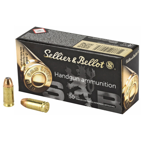 Sellier & Bellot 9mm 124gr JHP - 50rd Box