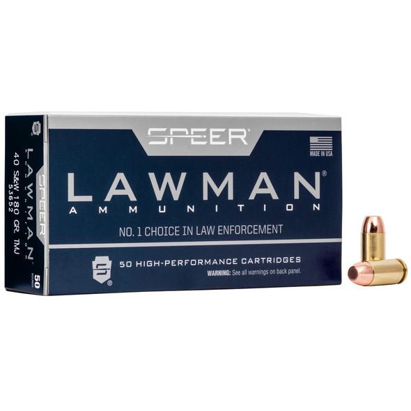 Speer Lawman - 40 S&W 180 Grain Total Metal Jacket - 50 Rds