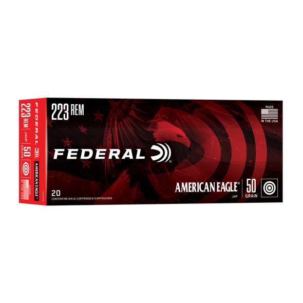 Federal American Eagle - 223REM 50 Gr. JHP - 20 Rds