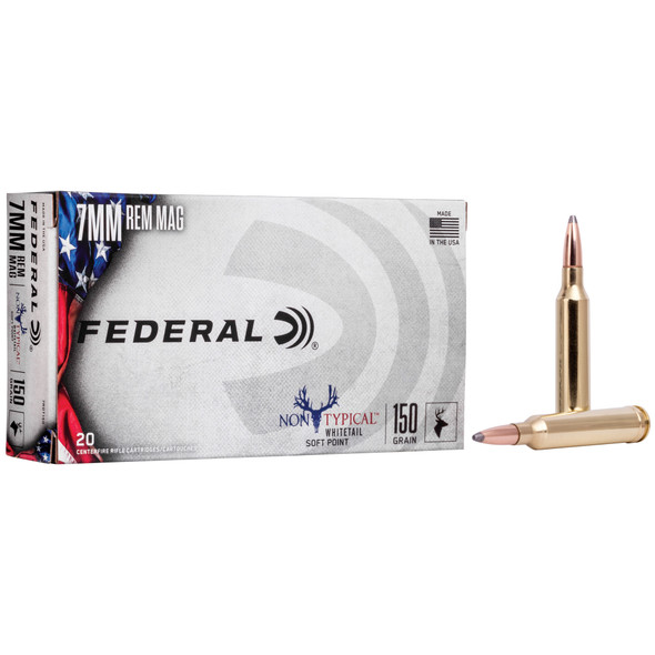 Federal Non Typical - 7MM Rem Mag 150Gr Soft Point - 20 Rds