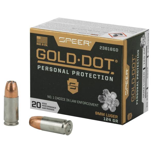 Speer Ammunition - Gold Dot 9MM 124 Grain Hollow Point - 20 Rds