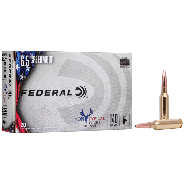 Federal Non Typical - 6.5 CREEDMOOR 140Gr Soft Point - 20 Rds
