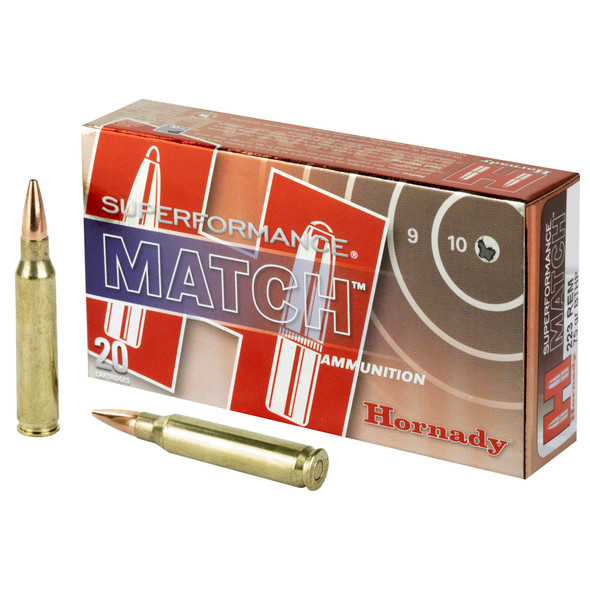Hornady Superformance Match 223 Rem 75gr BTHP - 20rd Box