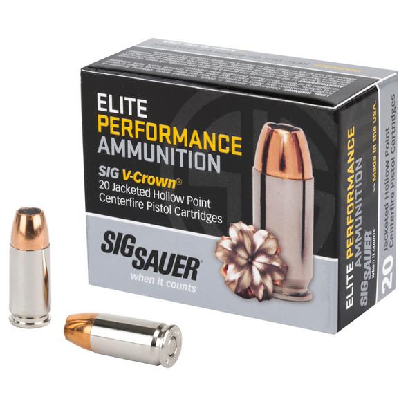 Sig Sauer Elite Performance 9mm 115gr JHP - 20rd Box