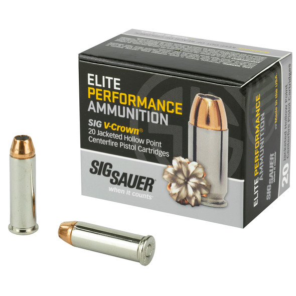 Sig Sauer Elite Performance - V-Crown 38 Spl +p 125 Grain JHP - 20 Rds