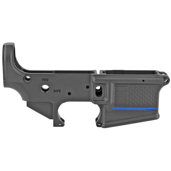 Spikes Tactical Stripped Lower Receiver - Thin Blue Line