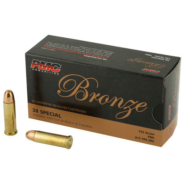 PMC Bronze 38 Special 132gr FMJ - 50rd Box