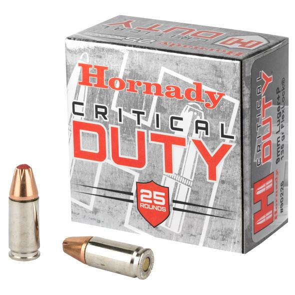 Hornady Critical Duty 9mm +P 135gr - 25rd Box