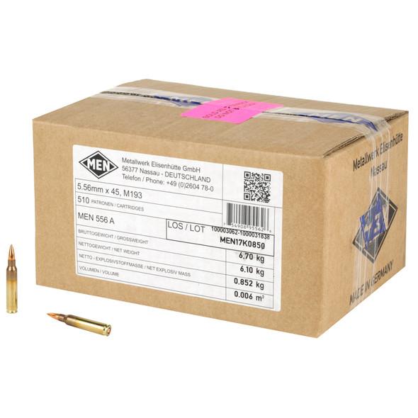 Magtech MEN - 5.56 Nato 55 Gr FMJ - 510RD Case