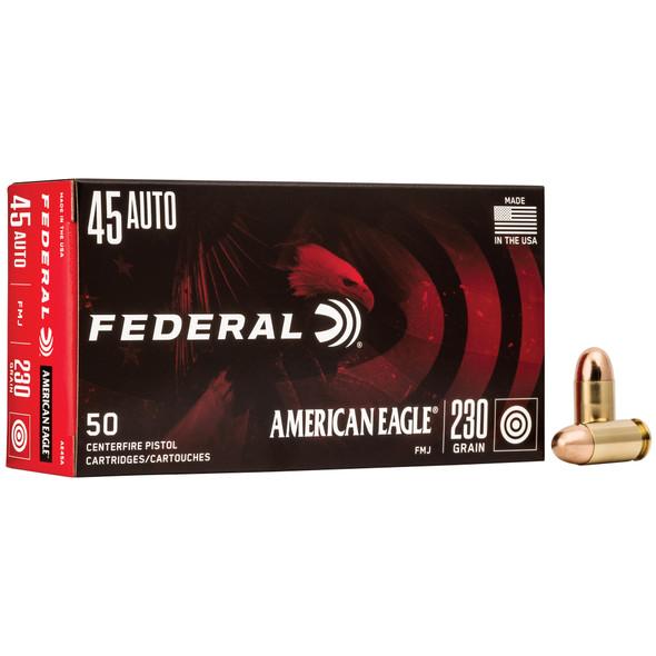 Federal American Eagle - 45ACP 230 Grain FMJ - 50 Rounds