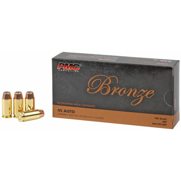 PMC Bronze - 45ACP 185 Gr Jacketed Hollow Point - 50 Rds